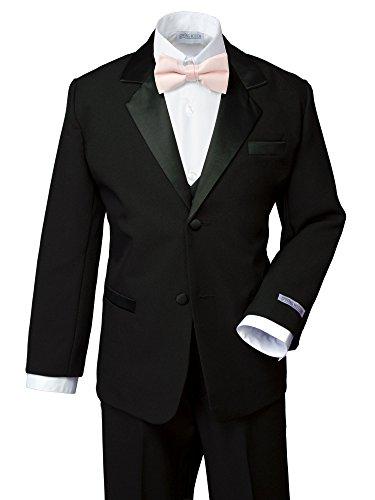 Spring Notion Boys' Classic Fit Tuxedo Set, No Tail 12 Black-Blush Pink ()