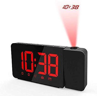 ZHD&CC Proyector LED Radio Despertador Digital, Radio FM ...