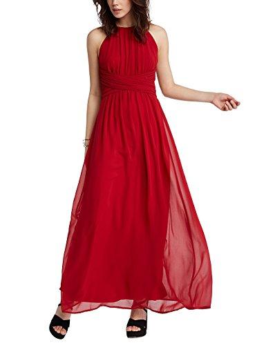 APART Fashion Damen Jumpsuit Red-Glencheck-Black-Cream-Grey-Glitter-Smokyblue & Fake Leather Rot (Red Red) IRwIurGhu
