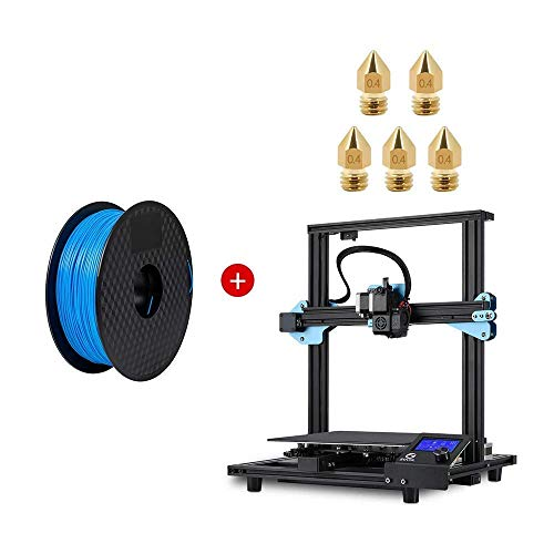 Sovol SV01 3D Printer 95% Pre-Assembled with 5 x 0.4mm Nozzle, Direct Drive Extruder Meanwell Power Supply and Glass Plate + Sovol PLA 3D Printer Filament 1 kg(2.2 LBS) Blue 1.75mm