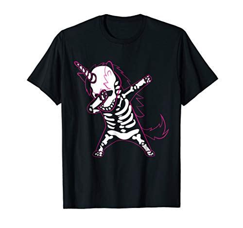 Kids Dab Unicorn Skeleton T Shirt Funny Unicorn for Women ()
