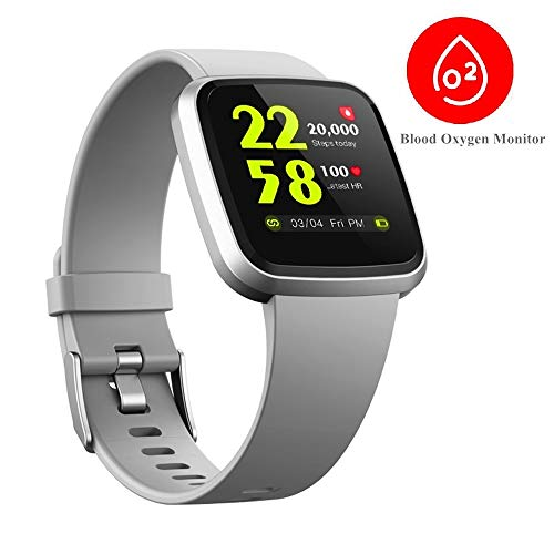 V12 Blood Oxygen Spo2 Heart Rate HRV Health Monitor Smart Watch IP68 Waterproof Fitness Activity Tracker Bluetooth…