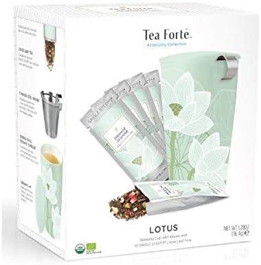 Tea Forté - Kati Mug Lotus Starter Kit - Pack Taza con Infusor + ...