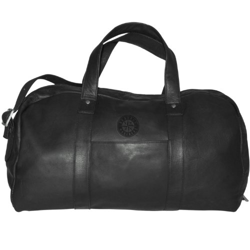 MLB Seattle Mariners Black Leather Corey Duffel Bag