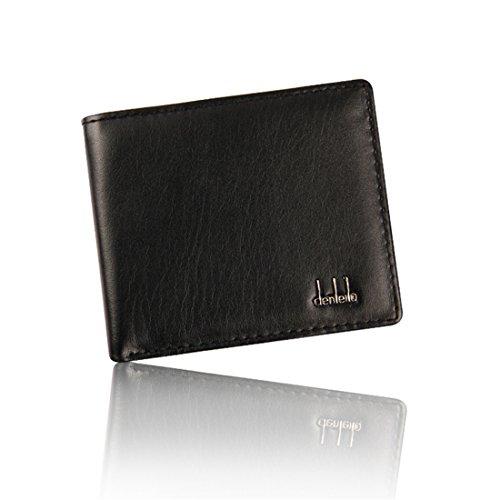 Hemlock Bifold Business Wallets, Men Leather Wallet Credit Card Holder Pocket Purse (Black) by Hemlock (Image #5)