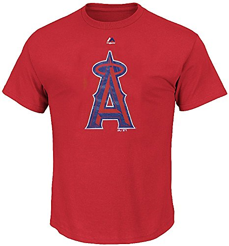 Majestic Los Angeles Angels Red Skills Test Synthetic Performance T Shirt -