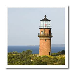 ht_90980_2 Danita Delimont - Lighthouses - Marthas Vineyard Aquinnah/Gay Head Lighthouse - US22 WBI0279 - Walter Bibikow - Iron on Heat Transfers - 6x6 Iron on Heat Transfer for White Material
