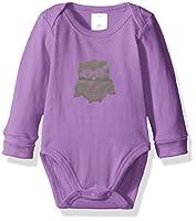 Blue Banana Baby Girls' Critters Long Sleeves Bodysuit, Purple, 03M