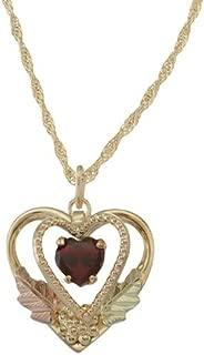 product image for 5 X 5 mm Heart shaped Natural Garnet 10k Black Hills Gold Pendant - January Birthstone