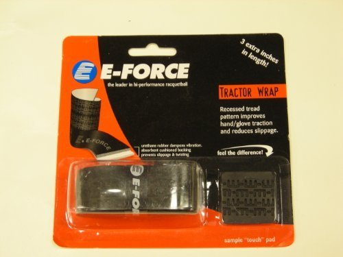 (E-Force Tractor Wrap Black OverGrip)