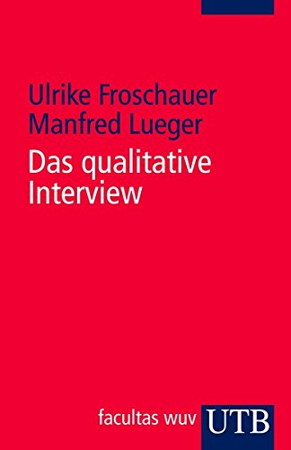 Das qualitative Interview: Zur Praxis interpretativer Analyse sozialer Systeme