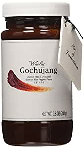 Wholly Gochujang, Premium Gluten-free Vegan Unpasteurized Artisanal Korean Hot Pepper Paste (Spicy, 9.8 oz)