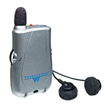 Williams Sound PKT D1 E14 Pocketalker Ultra - Personal Hearing Amplifier System with Microphone and Dual Mini Earbud