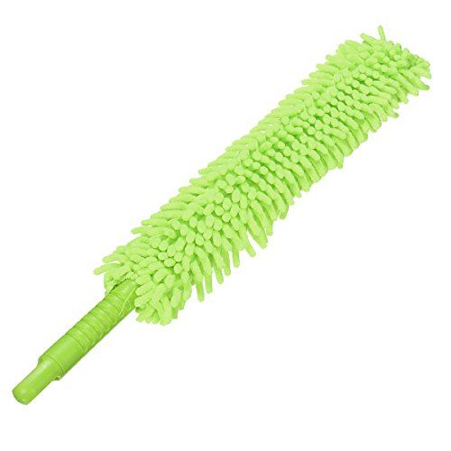 Hitommy Brush Flexible Xtra Long Microfiber Noodle Chenille Alloy Wheel Cleaner Car Wash - Green