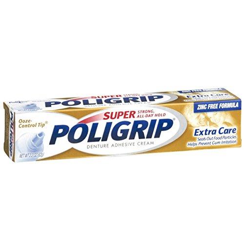 SUPER POLIGRIP Denture Adhesive Cream Extra Care 2.20 oz GLAXOSMITHKLINE CONSUMER SMI05475-X3