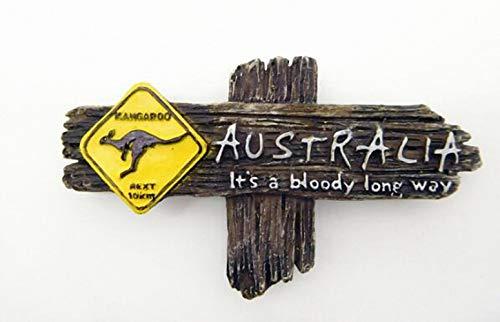 Sign Kangaroo Road (1 Pcs 3D Australian Kangaroo Road Sign Resin Refrigerator Magnets Australian Tourist Souvenirs Animal Guidepost Fridge Magnets Souvenirs Gifts Kitchen Magnets School Magnets for Toddlers Kids Adults)