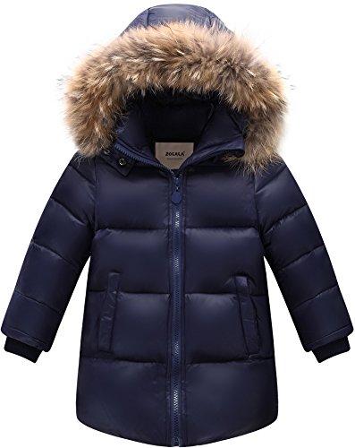 ZOEREA Kinder Daunenjacke Winterjacke mit fellkapuze Daunenmantel Warme Winter für Jungen Mädchen