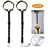 iBuddy Dog Seat Belts for Cars of Medium/Large Dogs, Adjustable Pet Seat Belt for Dog Harness with Dual Safe Bolt Hook and Elastic Durable Nylon Dog Safety Belt for CariBuddy Dog Seat Belts for Cars of Medium/Large Dogs, Adjustable Pet Seat Belt for Dog Harness with Dual Safe Bolt Hook and Elastic Durable Nylon Dog Safety Belt for Car (Headrest Restraint(2 Pack))