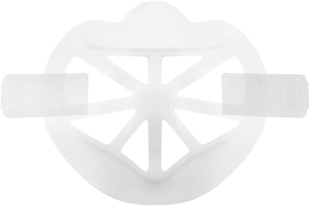 SO-buts 5pcs Soporte De Silicona 3D, Soporte De Máscara Soporte De Marco Protector De Lápiz Labial Protección De Enfriamiento De La Cara Soporte De Nariz Facial Soporte Interior Fresco