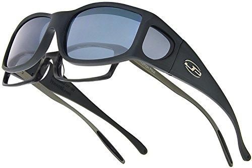 Fitovers Eyewear Jett Sunglasses, Matte Black, Polarvue - Lenses Polarized Vs Standard