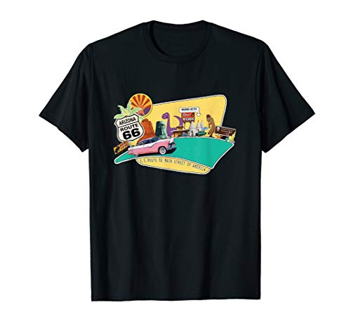 Arizona Route 66 Roadside Iconic Attractions Souvenir T-Shirt