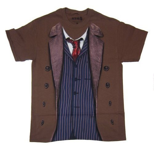 Doctor Who 10th Doctor Costume T-shirt (X-Large) - Doctor Who Unit Costume