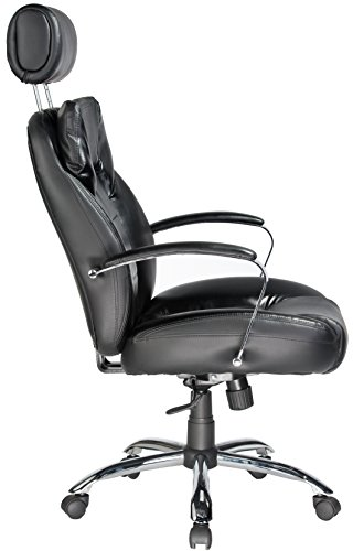 046854158009 - Comfort Products 60-5800T Commodore II Oversize Leather Chair with Adjustable Headrest, Black carousel main 2