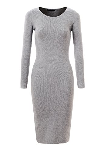 014f5a185cb GLOSTORY Womens Long Sleeve Slim Fit Bodycon Pullover Sweater Dresses 2616