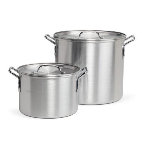 Pedrini 20-Quart Stock Pot (with Bonus 8-Quart Stock Pot)