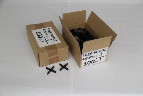 Fugenkreuze 4mm, Bauhöhe 10mm, 100 Stück im Karton
