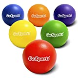 GoSports Strong Skin Foam Playground Dodgeballs - 6 Pack for Kids (6 in) & Adults (7 in) - w/Mesh Carry Bag