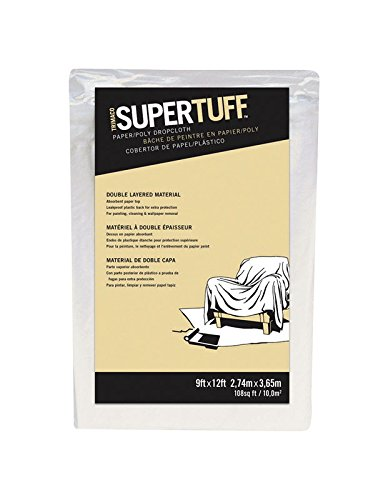 (Trimaco 02301 9' X 12' SuperTuff Paper & Poly Drop Cloth)