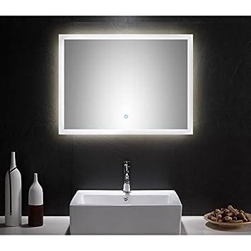 Badezimmer LED Spiegelschrank 80cm U0026#x25CF; Touch   Funktion Und LED Hintergrundbeleuchtung  U0026