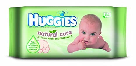 Huggies Natural Baby Wipes with Aloe Vera 2x10 packs 56 per Pack,1120 Total
