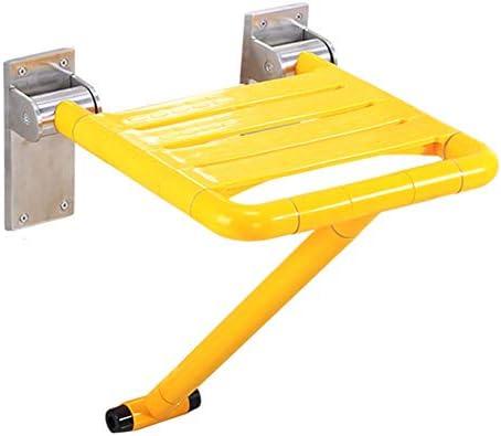 Shower Seats Duschklappsitz Klappsitz Mit Rutschfester Stützfüßen - Duschstuhl zur Wandmontage Für Fette Person/Ältere/Behinderte Menschen aus pflegeleichtem,300kg/661lb,Yellow
