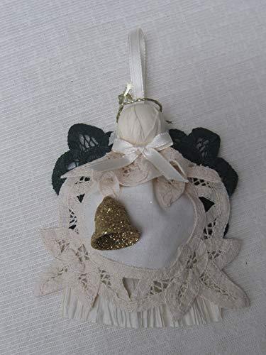 Beige Battenburg Lace Doily Angel Tree Ornament Angel Lover Gift