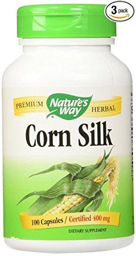 Nature's Way Corn Silk, 400 mg., 100 Capsules (Pack of 3)