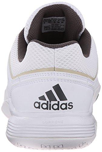 6bfc70765215 adidas Performance Women s Court Stabil 12 W Volleyball Shoe White Star  Metallic Grey 8.5 B(M) US  Amazon.in  Shoes   Handbags