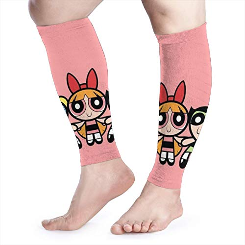 HYHACZX Powerpuff Girls Calf Compression Sleeve (sequential Compression, Unisex Ergonomics) (Ideal for Sports, Work, Flight, Pregnancy) Ect-Support Sore Muscles & Joints, 1 Pair]()
