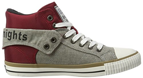 British Knights Roco, Men's Low-Top Sneakers Rot (Burgundy/Lt Grey/Black)