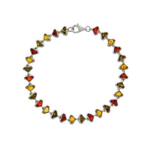 Nature d'Ambre - Bracelet argent 925/1000e ambre