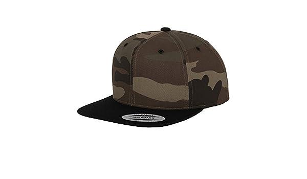 Amazon.com  Yupoong Flexfit Unisex Camouflage Snapback Cap (One Size)  (Black Camouflage)  Clothing 68f3eda66e67