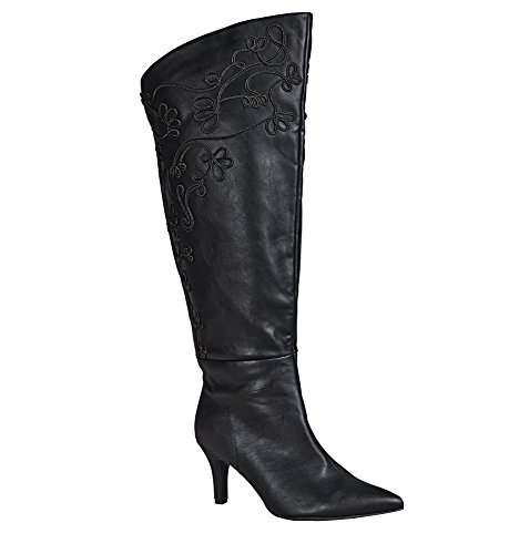 Avenue Womens Laurel Soutache Heeled Boot Black KP2JoyKZD