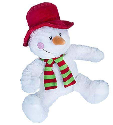 Cuddly Soft 16 inch Stuffed Red Snowman...We stuff 'em...you love 'em! (Large Stuffed Snowman)