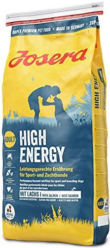 JOSERA High Energy (1 x 15 kg) | Hundefutter mit hohem Energiegehalt für Sporthunde | Mit wertvollem Lachsprotein…