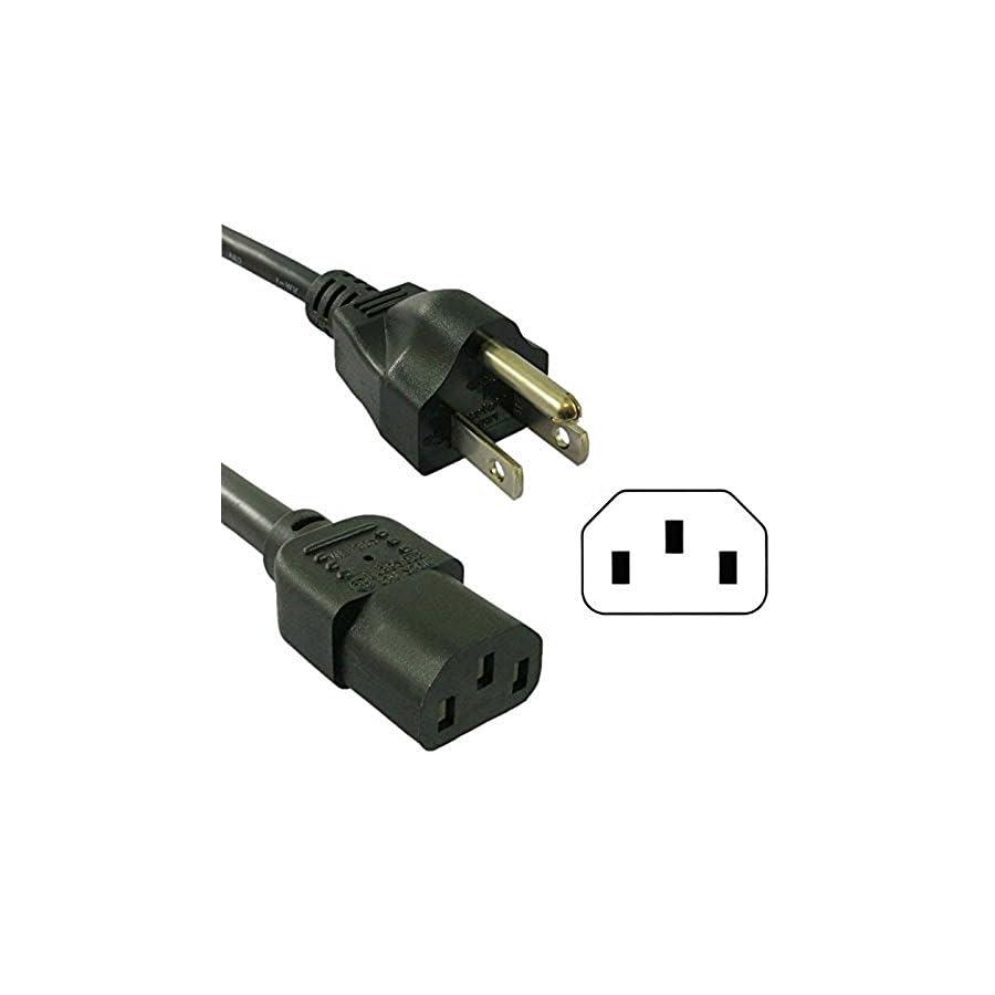 HQRP 10ft AC Power Cord for Precor EFX 5.17 5.23 5.33 EFX 5.23 AEXJ EFX 5.23 SK EFX 5.33 ST EFX5.33 ADFJ Fitness Elliptical Mains Cable Coaster