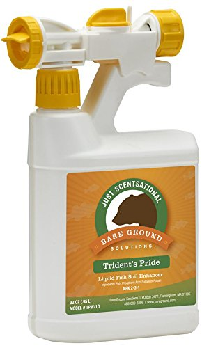 Just Scentsational TPW-1Q Trident's Pride Organic Liquid Fish Hydroponic Soil Fertilizer with Hose-End Mixing Sprayer, 32 oz (1 Quart)