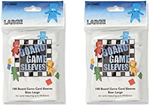 Arcane Tinmen Oversize Board Game Card Sleeves Bundle of 2 79mm x 120mm 200 Sleeves Total
