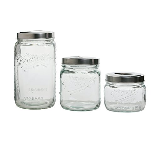 Mason Craft - 3 Piece Pop Up Canister Set