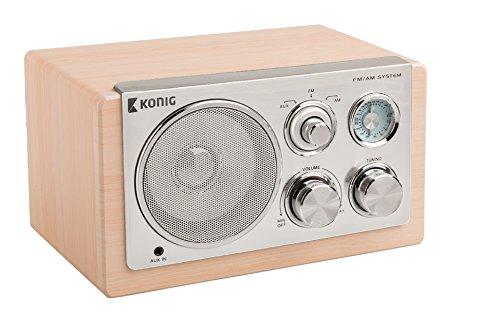 Konig - Radio De Sobremesa En Madera Clara